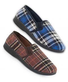 Peter - Men's Check Slipper