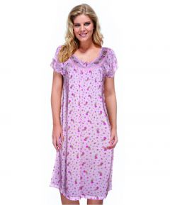 Floral Nightdress - Blue - Extra Large
