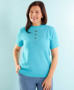 Diamond Knitted Top