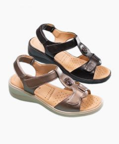 Ladies Triple Adjustable Sandal