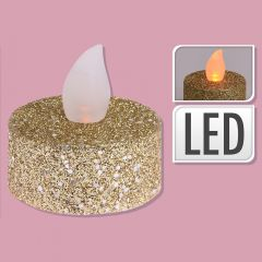 Gold Glitter Candle - Set of 6