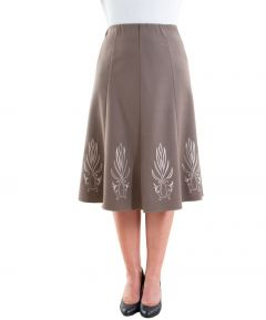Ladies' Lined Skirt with Embroidery