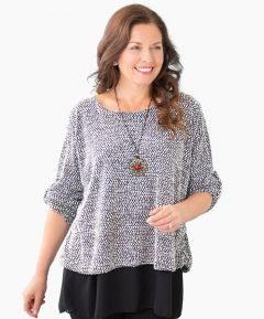 Top with Chiffon Hem with Necklace