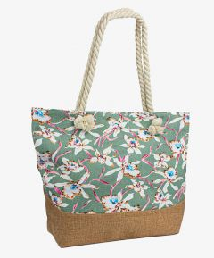 Floral Shopper with Rope Handles