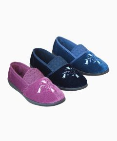 Blessie - Ladies Slipper with Tulip Embroidery