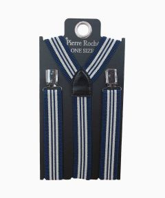 Men's Elasticated Braces Blue