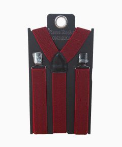 Men's Elasticated Braces Red