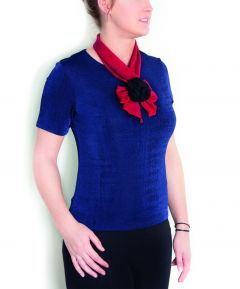 2PC Scarf With Rosettes