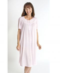Embroidered Yoke Jersey Nightdress