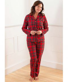 Ladies' Traditional Fleece Tartan Pyjamas