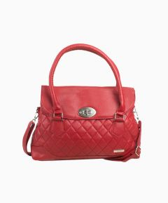 Leather Grain Effect Handbag