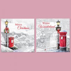 Traditional Christmas Cards - 12 Pack