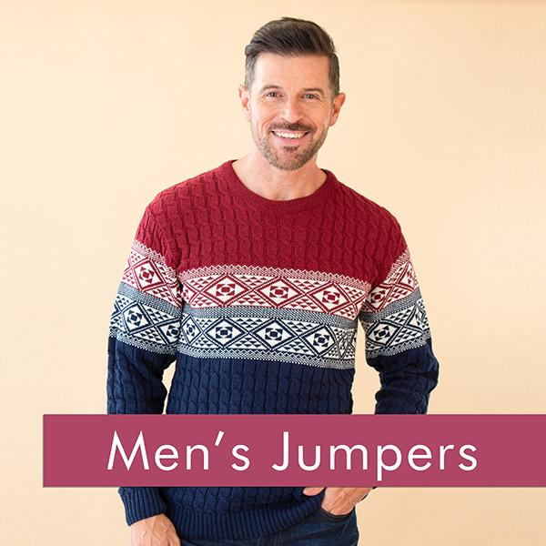 Shop our range of men's jumpers